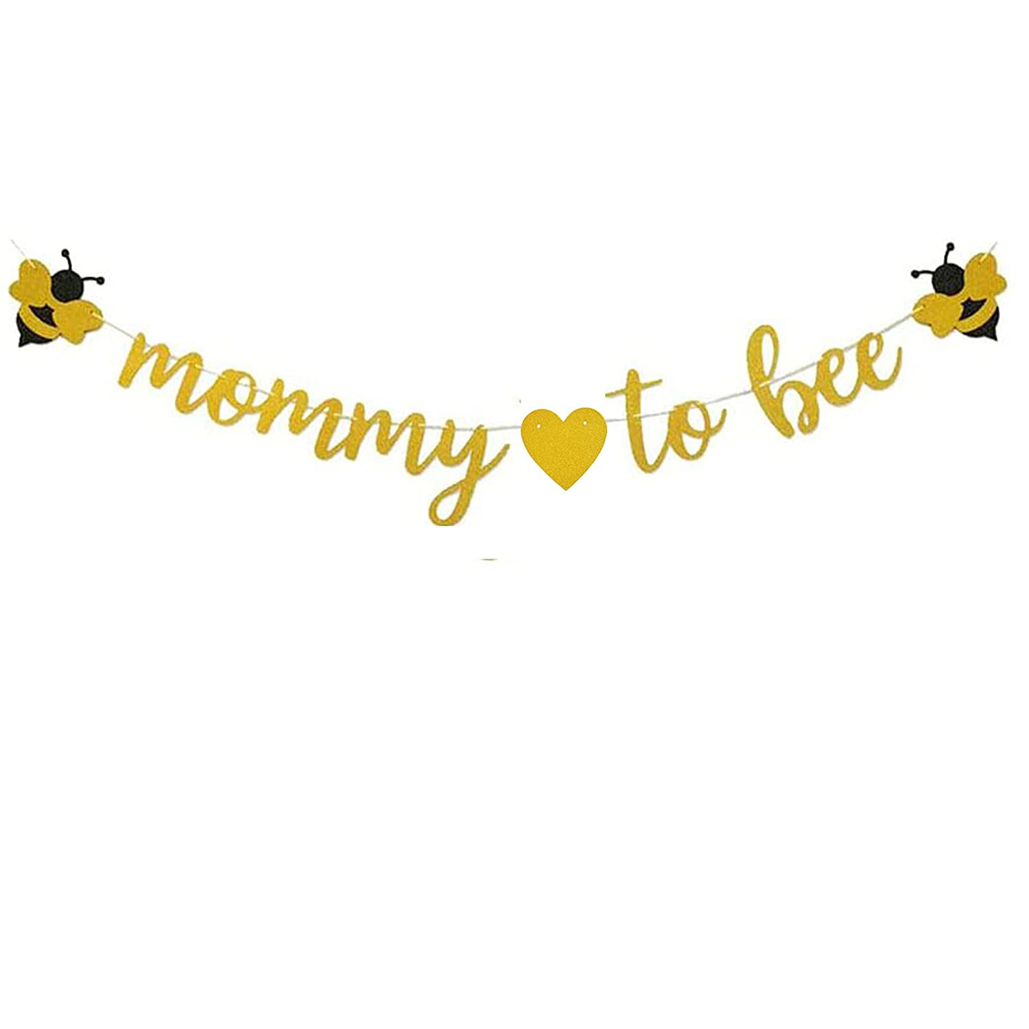 Mommy to Bee Banner,Happy Bee Day Decoration Bumble Bee First Birthday Decor,Bee Theme Baby Shower/Gender Reveal Party Decorations(bee).
