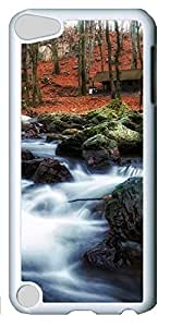 Fashion Customized Case for iPod Touch 5 Generation White Cool Plastic Case Back Cover for iPod Touch 5th with Landscape Painting
