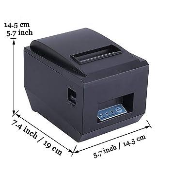 TSSM Recibo térmica 80mm Impresora Impermeable a Prueba de ...