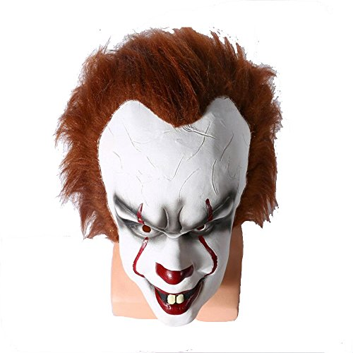 Motor-acc Latex Movie Pennywise IT Clown Joker Real Life Mask Stephen King's Fancy Cosplay Costume (Cool Costumes Halloween 2017)