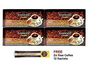 4x Gano Excel Ganocafe Classic Ganoderma Healthy Black Coffee + FREE 12x Zrii Rise Coffee