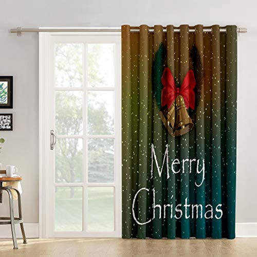 Red Vow Kitchen Tier Curtains 96 inch Length Merry Christmas Decoration Maroon Home Holiday Decorative Patterned Chic Window Fabric Panel