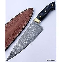 Damascus Knife Handmade Chef Kitchen Knife - Pakka Wood Handle JNR301