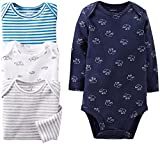 Carter's Baby Boys' 4 Pack Bodysuits (Baby) - Navy - 24 Months