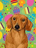 Caroline's Treasures LH9402GF Dachshund Easter Eggtravaganza Flag, Small, Multicolor Review