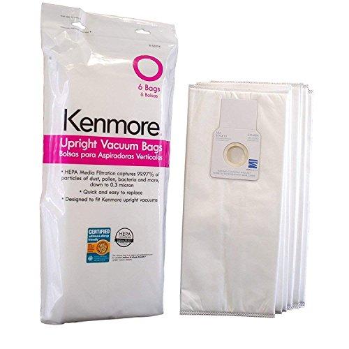 Kenmore 53294 6 Pack Type O HEPA Vacuum Bags for Upright Vac