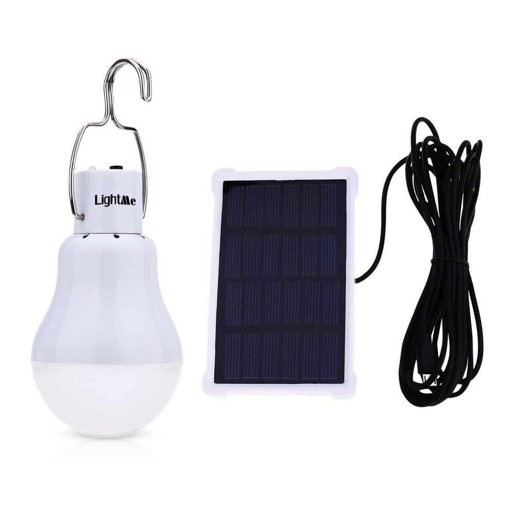 LightMe Solar Light Bulb Portable 140LM Solar Powered Led Bulb Lights Outdoor Solar Energy Lamp Lighting for Home Fishing Camping Emergency Tent Shed Chicken Coop