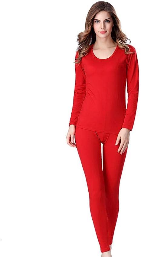Coooi Camiseta Interior Termica Mujer Ropa Interior Térmica De Invierno para Mujer Hombre Sólido Simple Elástico Femenino Ropa De Dormir Masculina: Amazon.es: Deportes y aire libre