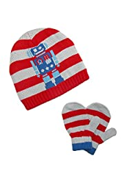 CTM Toddlers Knit Hat and Mittens Winter Set, Robot