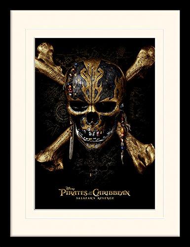Pirati dei Caraibi: Salazar S Revenge Skull Montato e Stampa con Cornice,, 30x 40cm Pyramid International MP11935P-PL