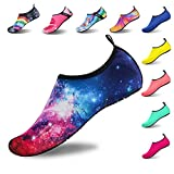 Womens and Mens Water Shoes Barefoot Quick-Dry Aqua Socks for Beach Swim Surf Yoga Exercise (Starry Sky, L)