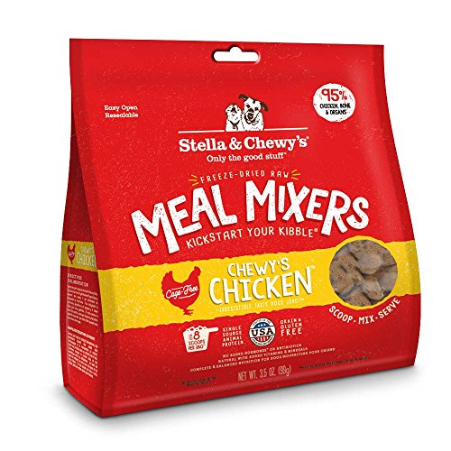 Stella & Chewy's Freeze-Dried Raw Chewy's Chicken Meal Mixers Grain-Free Dog Food Topper, 3.5 oz ()