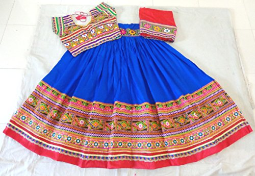 [Megh Craft Women's Banjara style kutch embroidered chaniya choli - rayon cotton ghagra choli] (Banjara Dance Costumes)