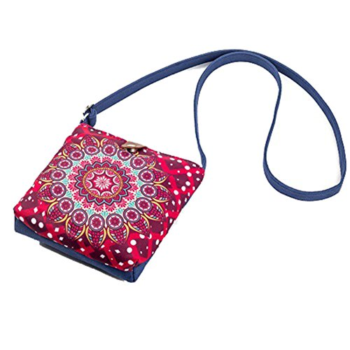 Dunland Mujeres Bolso Grande Cremallera Bolsos Bolso Casual reutilizable ecológico Mini teléfono Multicolor4