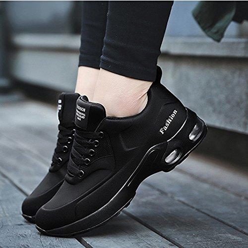 MYXUA Chaussures De Course Pour Hommes Et Femmes Chaussures De Sport Black i4ZWwURXw