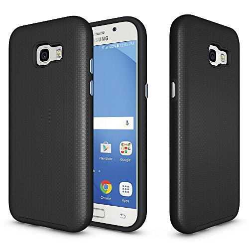 Galaxy A5 2017 Anti-skid Defender Case, ZUERCONG Slim Dots-Rugged Nonslip Shockproof Scratch-Resistant Anti-Fingerprints Protective Bumper Case Cover For Samsung Galaxy A5 2017 A520F 5.2
