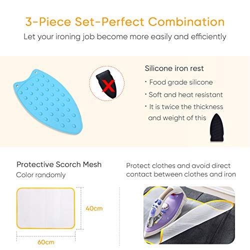 Ironing Blanket Ironing Mat,Second Generation Upgraded Thick Portable Travel Ironing Pad,Isolate Heat Pad Cover for Washer,Dryer,Table Top,Countertop,Ironing Board for Small Space-19 x 33 inch