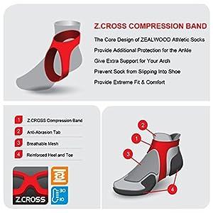 Men Running Socks, ZEALWOOD Quick Lyte Cushion Single Tab Running Socks, Low Cut Hiking Socks, Dry Fit Socks Pack of 3,Extra Large Size Socks Men-Grey/Black,X-Large