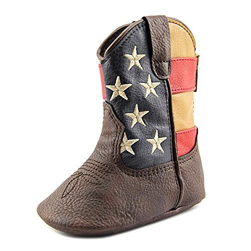 Durango Baby DBT0152 Western Boot, Brown/Union Flag, 12.M M US Infant
