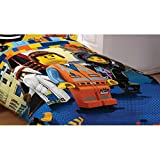 lego bedding full - LEGO The Movie Reversible Bed Comforter (Twin-Full)