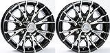 TWO (2) Aluminum Sendel Trailer Rims Wheels 6 Lug 15'' T07 V-Spoke/Black Style