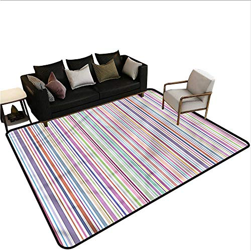 Striped,Polyester Non-Slip Doormat Rugs 80