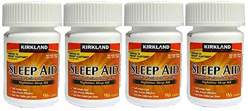 Kirkland Signature Nighttime Sleep Aid (Doxylamine Succinate 25 mg), 96 Tablets (Pack of ()