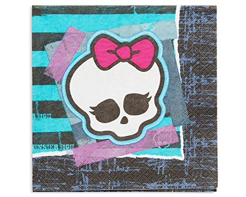 High Lunch Monster Napkins (American Greetings Monster High Lunch Napkins (16)