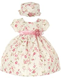 CinderellaCouture-ME839-rose Printed Jacquard Baby Dress