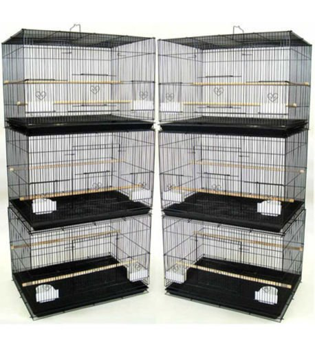 Photo Mcage Lot of 6 Aviary Breeding Bird Finch Parakeet Finch Flight Cage 24