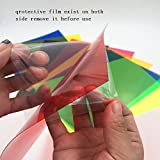 Sakolla 18 Pieces Colored Overlays Light Gels Transparency Color Film Plastic Sheets Correction Gel Light Filter Sheet 8.5 by 11 Inches 9 Assorted Colors