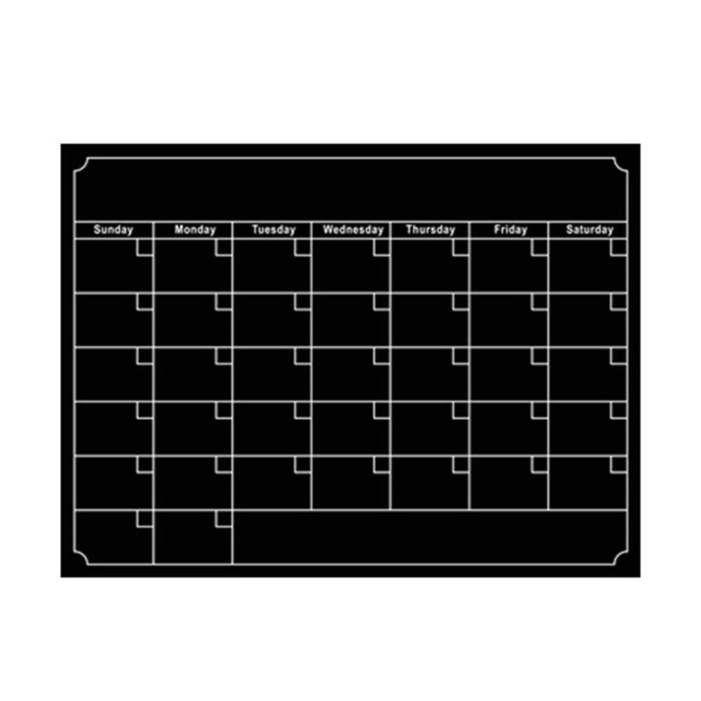 Upgrade Version - Waterproof Magnetic Calendar Whiteboard & Blackboard - Dry Wet Erase White Board for Refrigerator to-Do List Monthly Daily Planner Organizer for Kitchen Aolvo