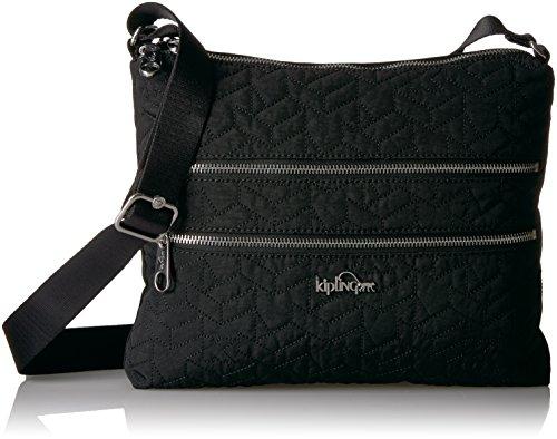 Kipling Alvar Solid Quilted Crossbody Bag, Black (Bag Quilted Black Laptop)