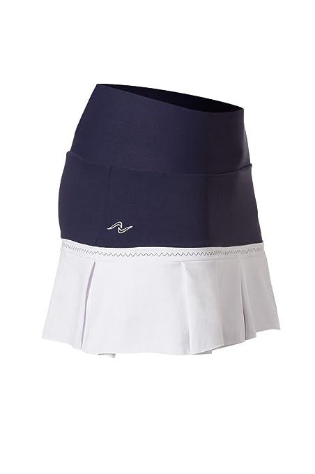Naffta Tenis Padel - Falda-short para mujer, color marino/blanco, talla