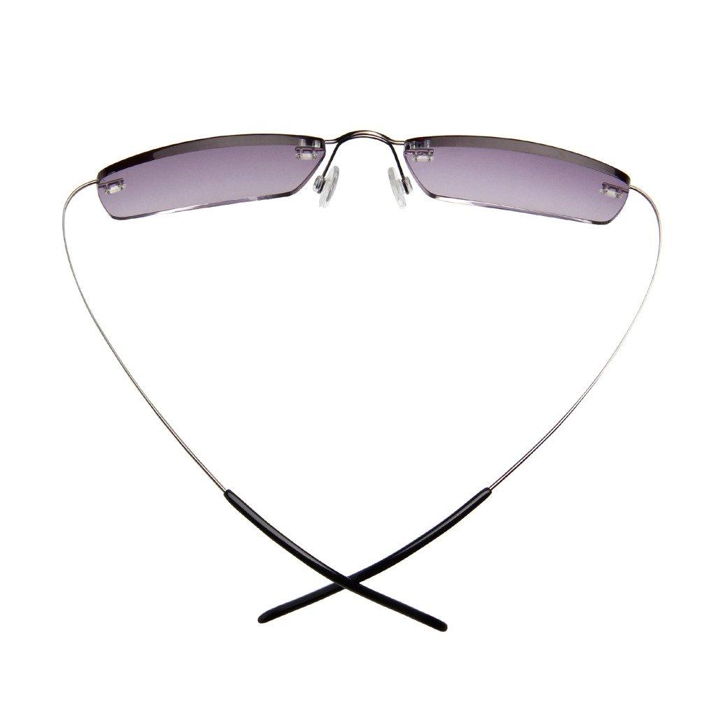6b36b7fd12fe Amazon.com  LianSan Womens Mens Designer Titanium Sunglasses Readers  Lightweight Fashion Magnifier Reading Glasses with case 1.5 2.0 1.25 1.75  1.0 2.25 2.50 ...