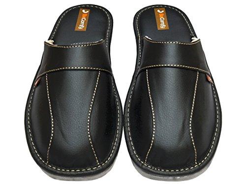 BeComfy - Zapatillas de estar por casa de Material Sintético para hombre negro