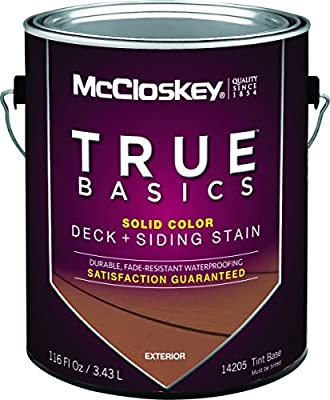 Mccloskey 14205 True Basics Exterior Latex Deck & Siding Stain, Gallon, Tint (Pack Of 4)