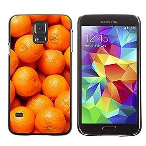 LECELL--Funda protectora / Cubierta / Piel For Samsung Galaxy S5 SM-G900 -- Orange Macro Fruit Tropical --