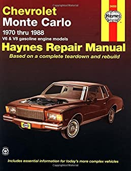 chevrolet monte carlo ss repair manual basic instruction manual u2022 rh ryanshtuff co Monte Carlo SS 2011 2001 Monte Carlo SS