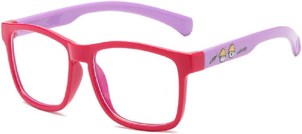 Starall Blue Light Blocking Glasses Kids Anti Blue Ray Glasses,Silicone Frame Flat Anti-radiation Clear Lens Anti Radiation Eyeglasses for Kids Children