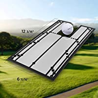 "Shaun Webb's, PGA, Putting Mirror (12"" x 6"") Portable Golf Training Aid to Improve All aspects of Your Stroke - Alignment Golf Accessories - Swing Trainer"