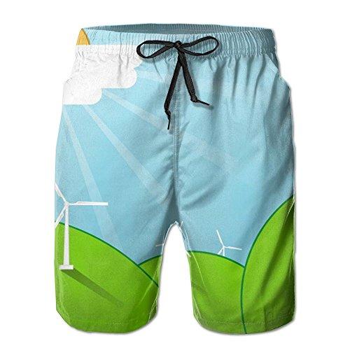 Windmill Stretch Mens Boardshorts Swim Trunks Fashion Men Tropical Basketball Athletic Board Shorts