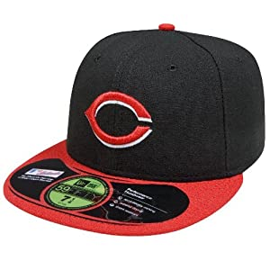 MLB Cincinnati Reds Authentic On Field Alternate 59FIFTY Cap, Black/Red