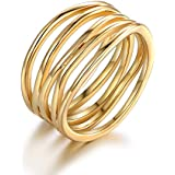 Barzel Gold Plated Statement Ring (6) (Gold, 10)