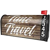NEONBLOND Painted Wood Time Travel Magnetic Mailbox Cover Custom Numbers
