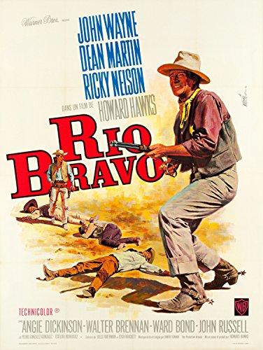 Old Tin Sign Movie Posters Rio Bravo John Wayne