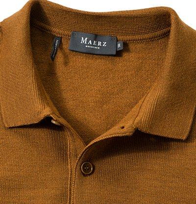 Maerz Herren Pullover Merinowolle Sweater Meliert, Größe: 50, Farbe: Braun