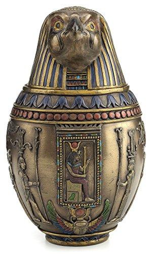 Egyptian Horus Canopic Jar Pet Burial Urn Falcon