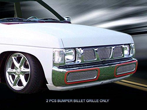 (Fedar 1995-1997 Nissan Hardbody Pickup Lower Bumper Billet Grille Grille 2-pcs)