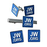 Kyпить Gudeke JW.ORG Cufflinks and Tie Clip and 2 Pins Set на Amazon.com